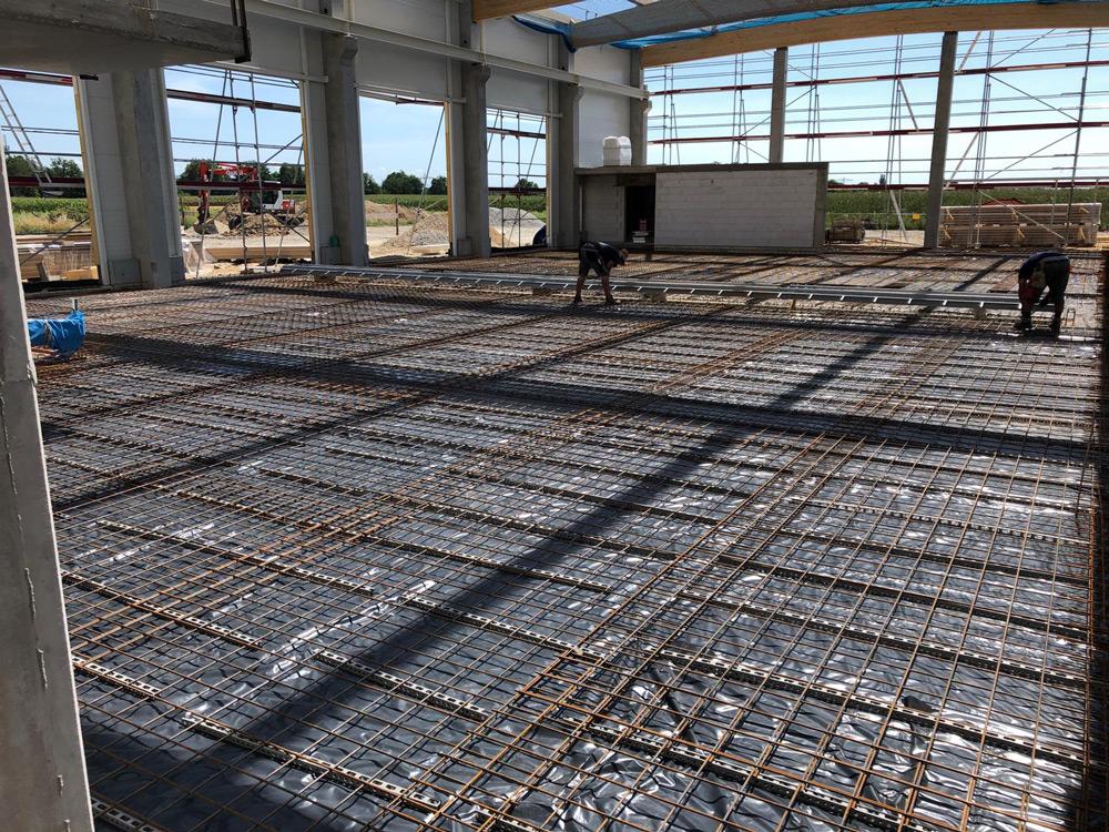 Projekt Kürzell, Bewehrung Bodenplatte