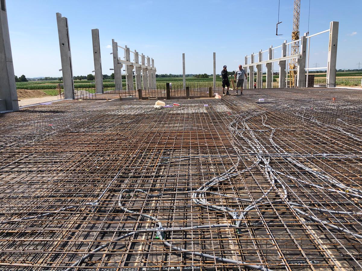 Bewehrung Decke Industriebau in Kürzell