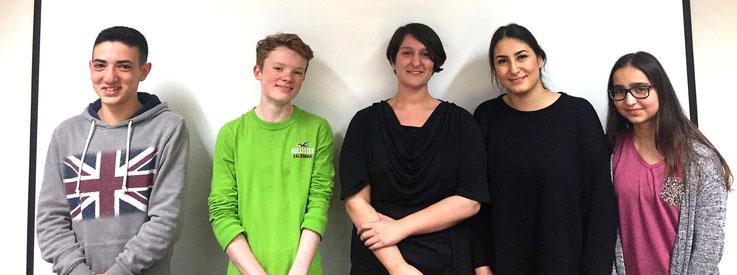 Das Redaktionsteam des Jugendrats: Aiman, Gereon, Zehra, Birgül und Hilal (v.l.n.r)