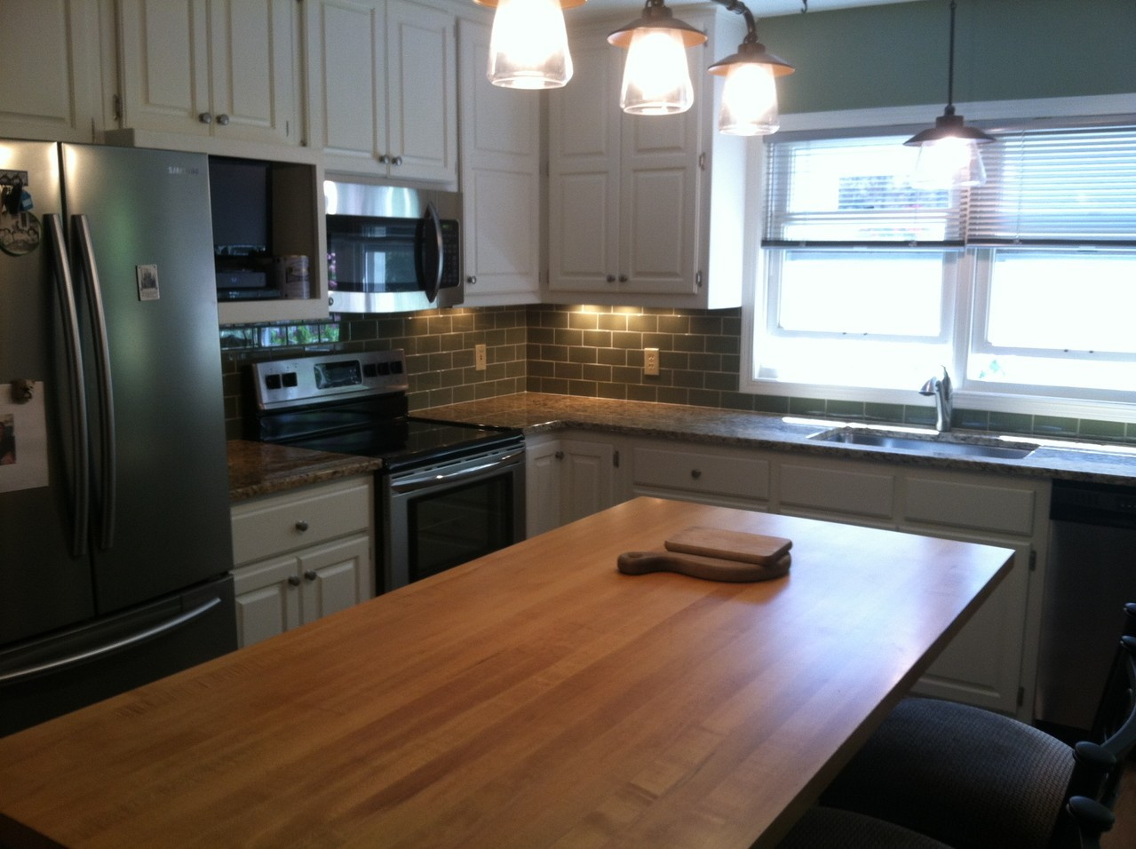 Re-finished Wood island countertop