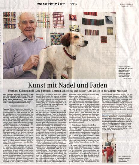 Weserkurier, Kerstin Thompson, 12.01.2012