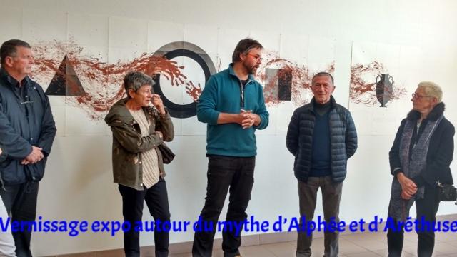 expo collective autour du mythe d'Alphée et d'Aréthuse