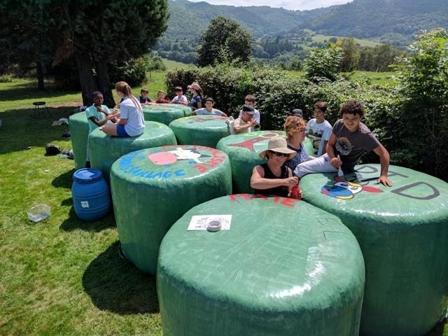 Chantier jeunes 2017 : décorations pour la fête du l'agriculture Estadens