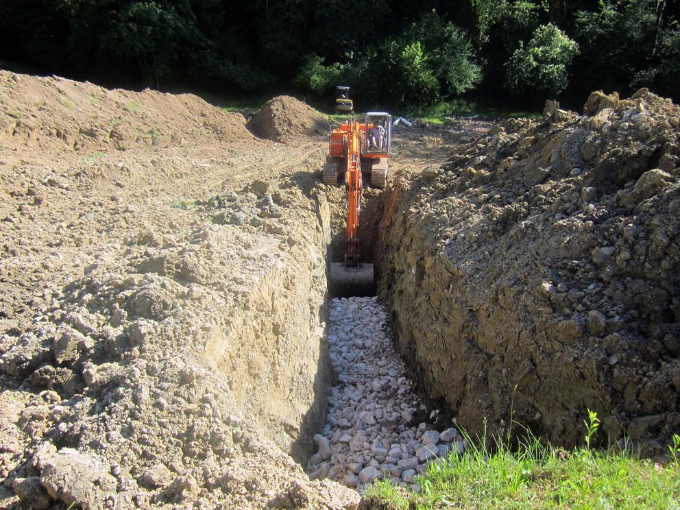 Canali di drenaggio per terreni umidi