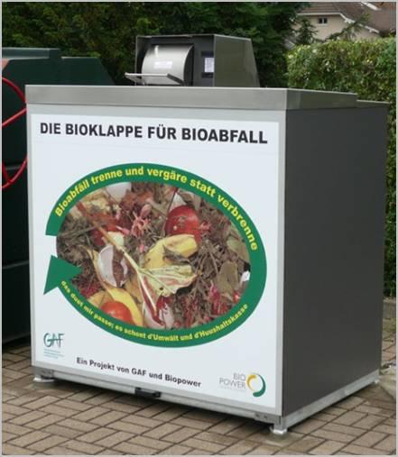 Bioklappe für Kompostabfälle
