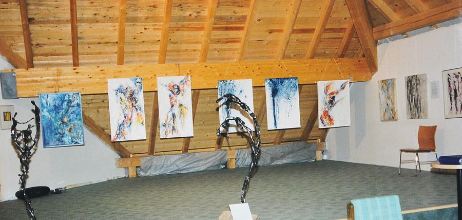 Ausstellung im Obergeschoss der Kirche in Fürstenbrunn