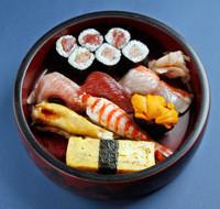 fatty tuna、tuna、whitefish、ark shell、prawn、sea urchin、egg