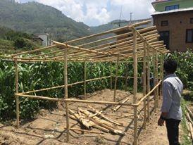 Des habitats simples mais efficaces dont les structures sont en bambou