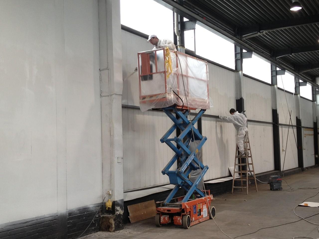Wandbeschichtung im Airless-Spritzverfahren
