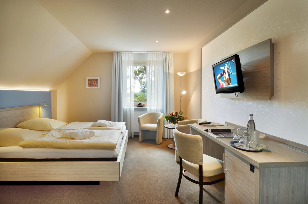 Umgestaltete Zimmer des Hotels Surendorff