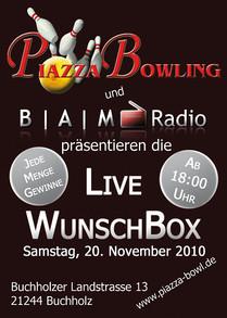 B | A | M Radio Live Wunschbox Piazza Bowling Buchholz