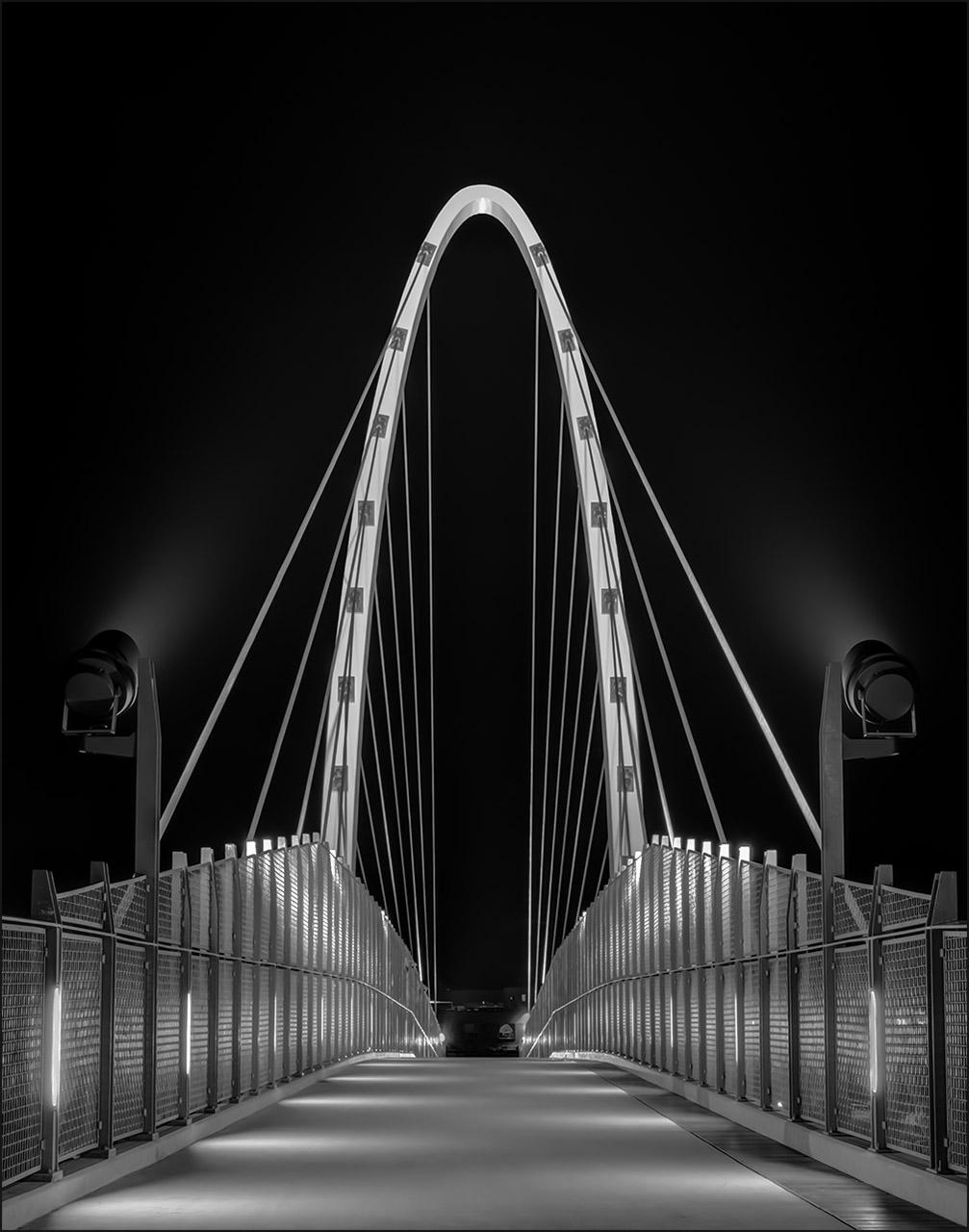 """Pictorial Mono: """"University District Gateway Bridge"""" by James White"""