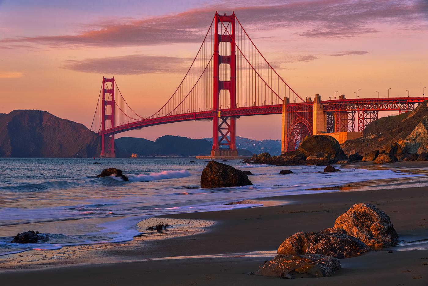 "Photo Travel:  ""Golden Gate Golden Hour"" by Laura Lee Bartholomew"