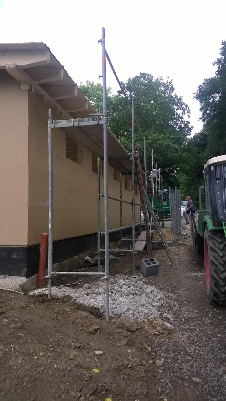 14.07. Vorbereitung für Dachrinnenmontage