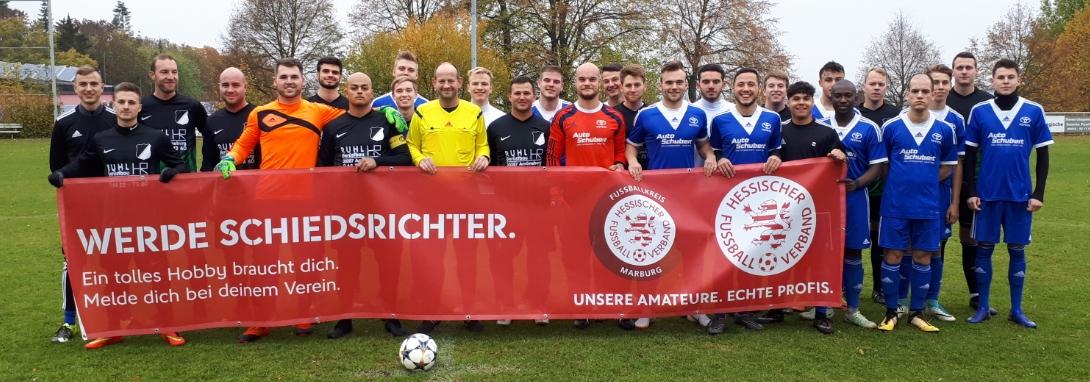 Ja, Spvgg. und FSV Schröck unterstützen die Aktion von Kreisschiedsrichter- und Kreisfussballausschuss zur Requierierung von neuen Schiedsrichtern. Wer Interesse hat, meldet sich beim Vorstand für den nächsten Neulingslehrgang an.