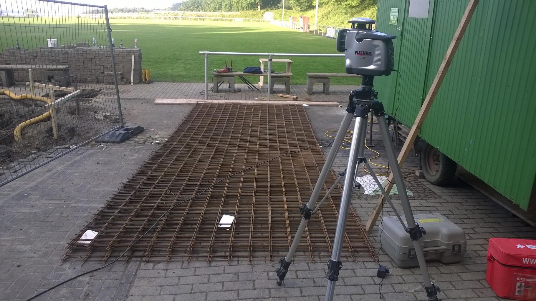 Stahl für die Bodenplatte