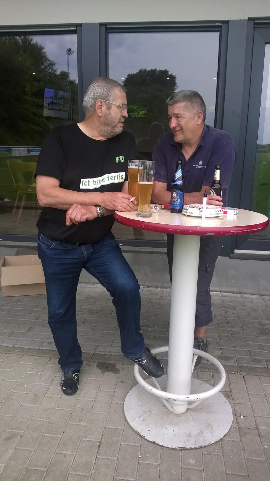 Horst und Frieder - vor über 10 Jahren wurde zusammen mit Dieter G. in einem konspirativen Treff der Fußball der Spvgg. wieder belebt