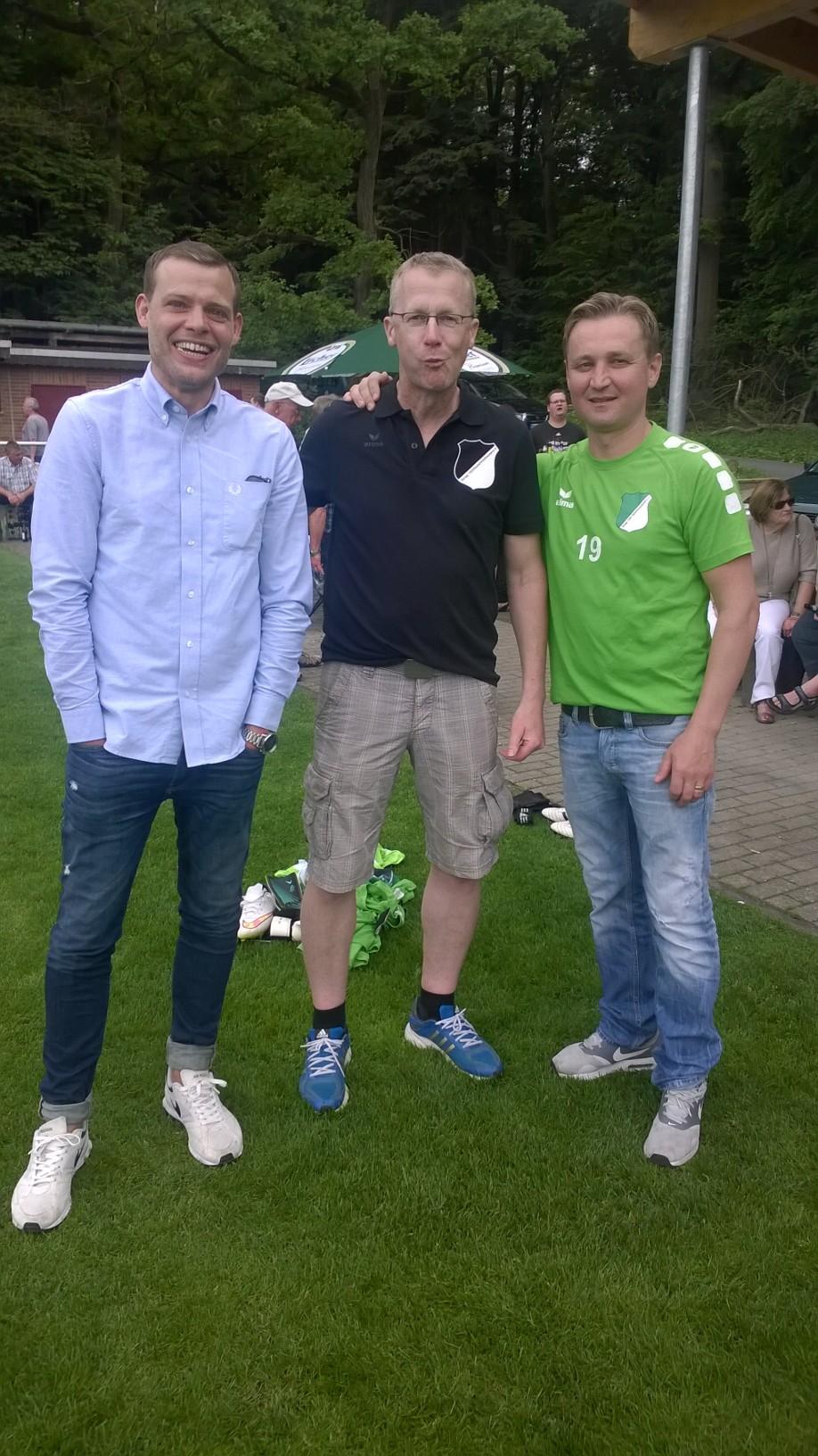 Andy Froese, Dirk und Dragan - Spieler der ersten Tage unter sich