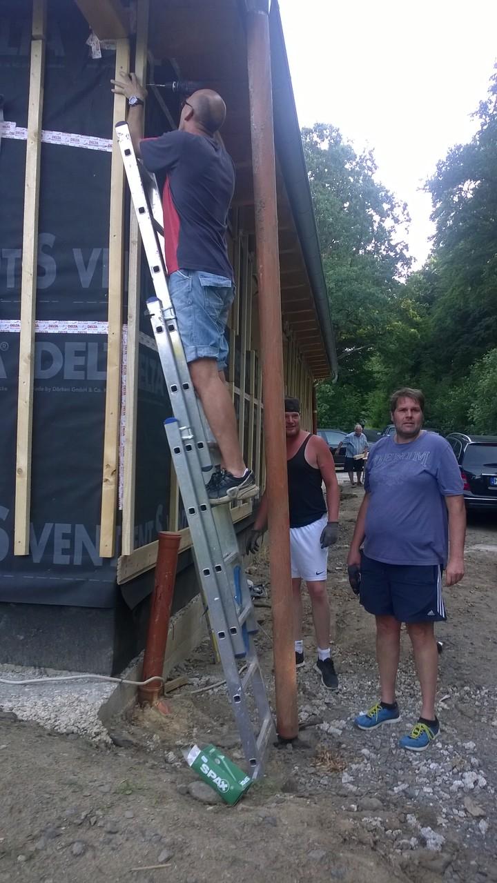 Lars mit Sven und Dieter als Bodenpersonal