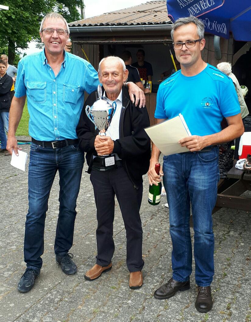 Die Sponsoren Walter, Seniorchef Paul und Markus
