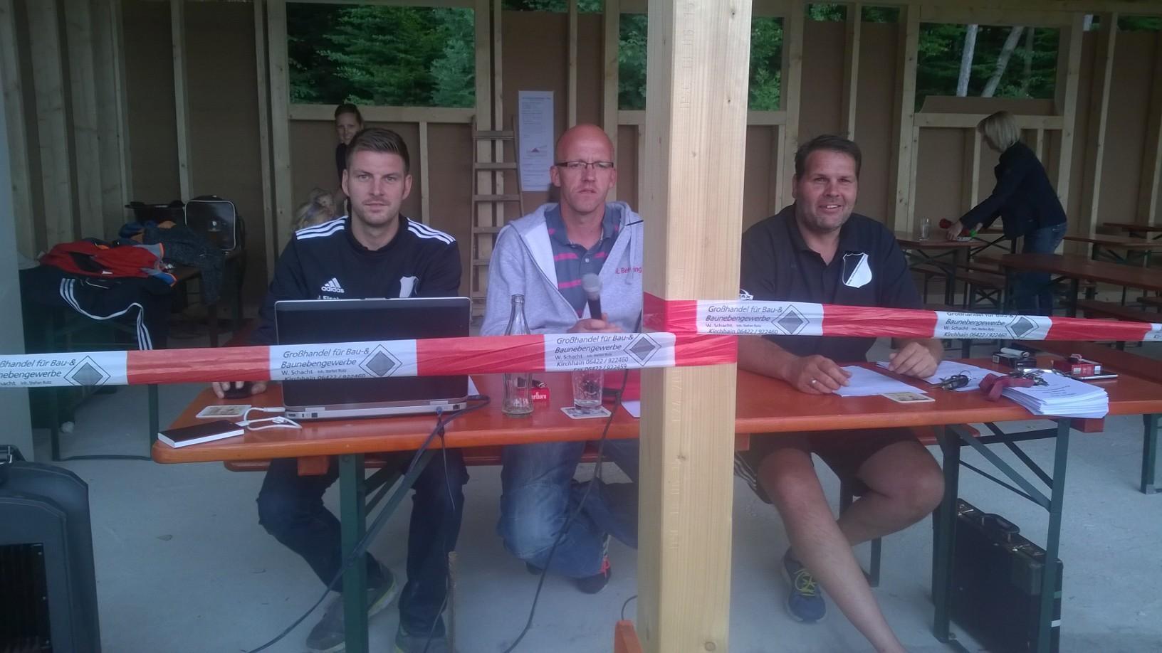 Die Turnierleitung Johannes, Lars und Dieter