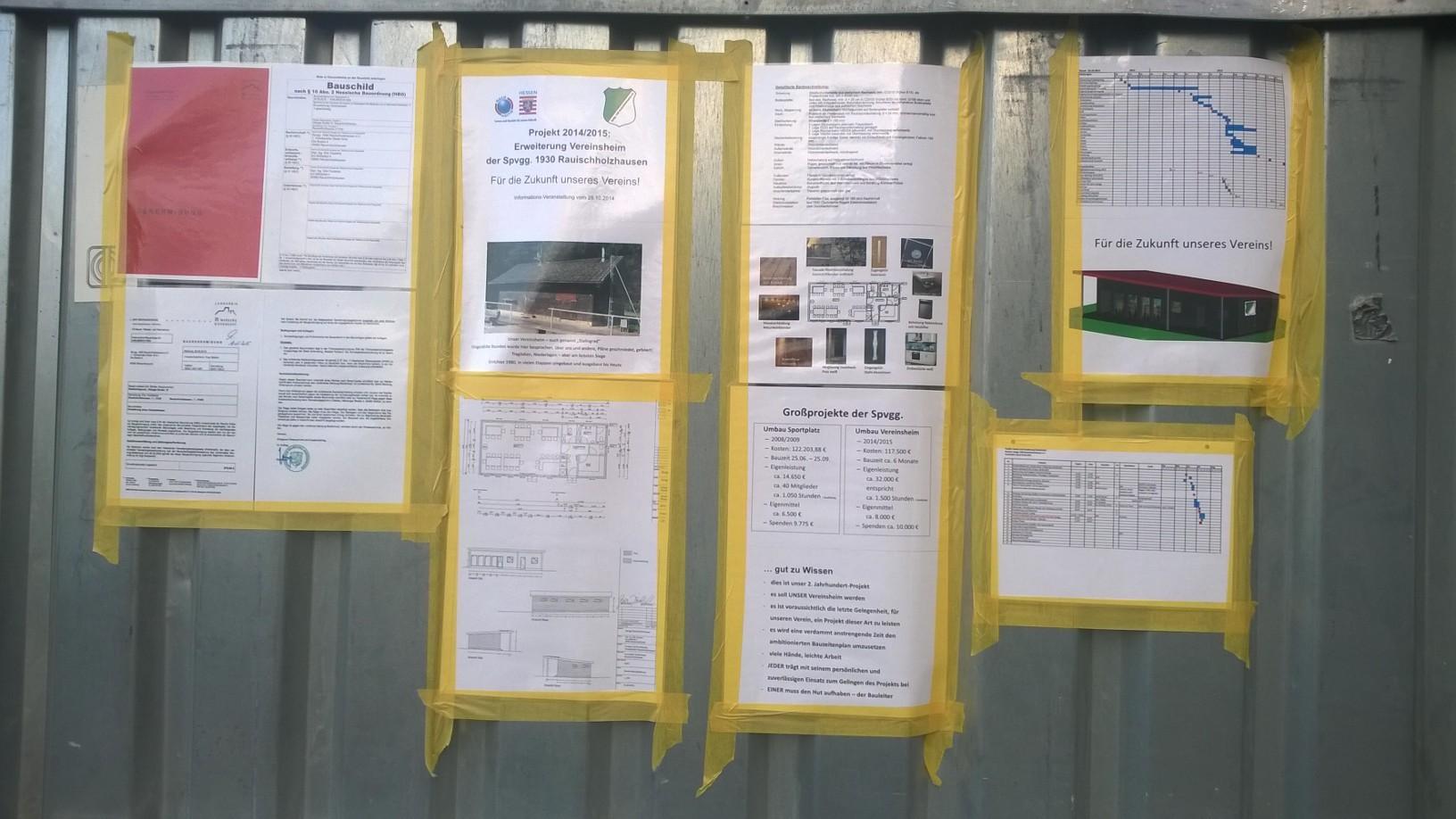 Information über Bauvorhaben