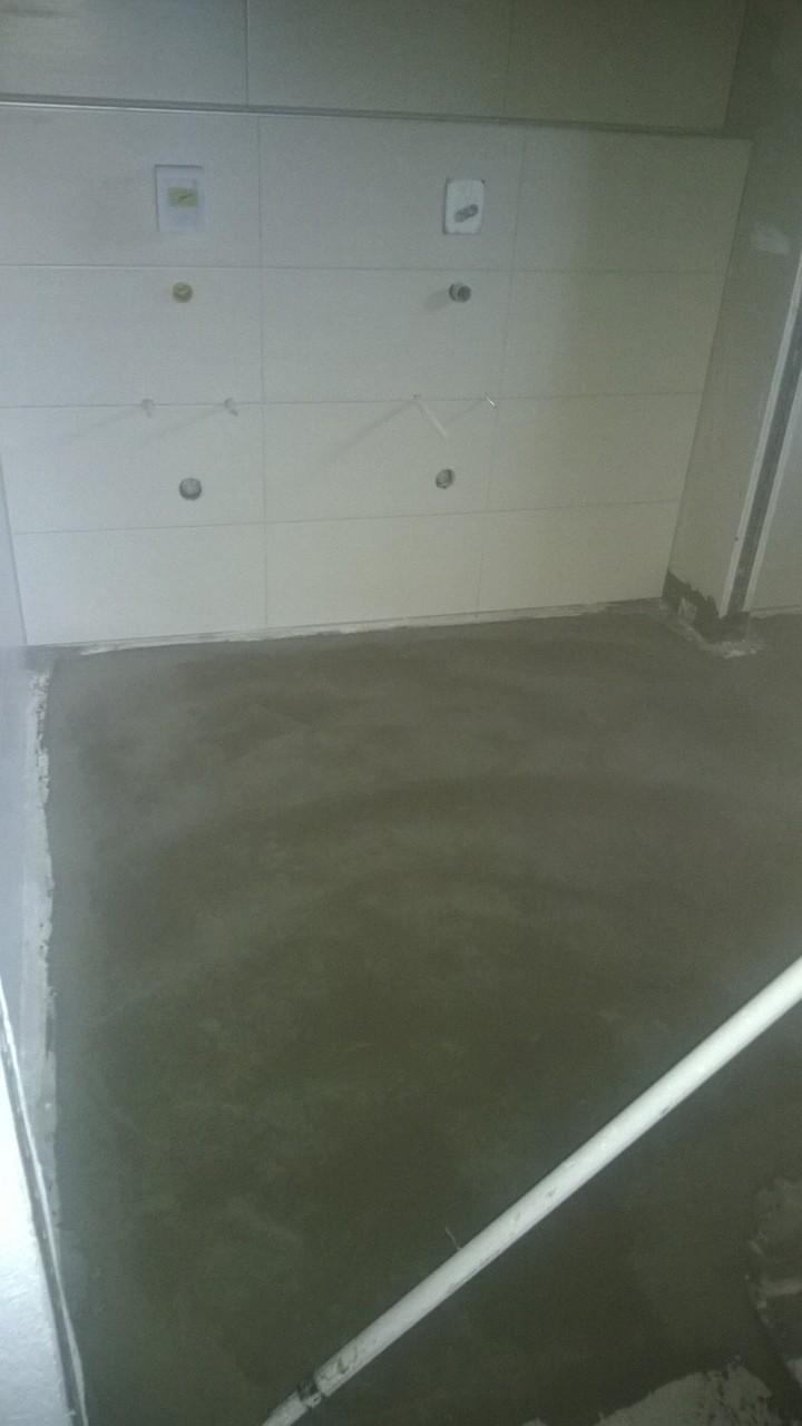 Fußboden ist für den Belag vorbereitet