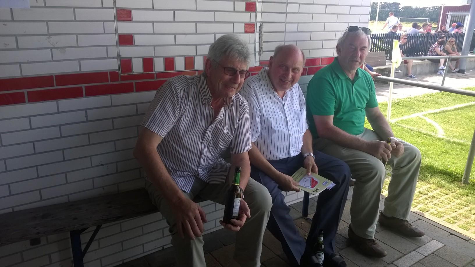 Altmeister der Turniersponsoren - Heinrich Rhiel, Heinrich Meier III und Hermann Rhiel