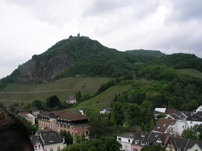 Blick vom Dach der Schule in Richtung Siebengebirge.