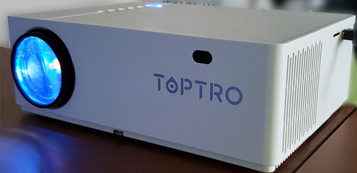 プロジェクター:TOPTRO7500lm液晶プロジェクター。Bluetoothスピーカーと接続可[共用]