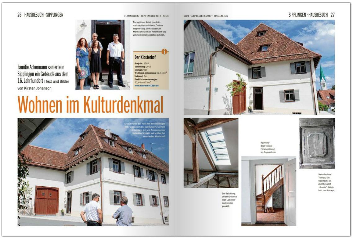 Ferienwohnungen Klosterhof1595 Aussen Blick von Haus Sipplingen Bodensee