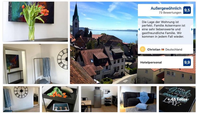 Gäste Bewertungen Ferienwohnung Klosterhof1595 Sipplingen Bodensee