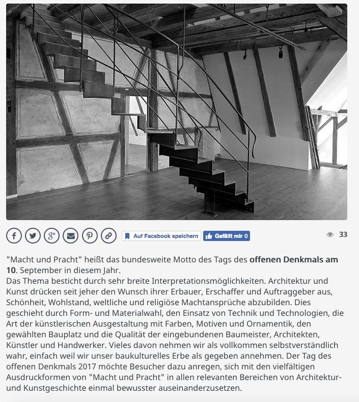 Tag des offenen Denkmals Baden-Württemberg 2017 Klosterhof1595 Sipplingen Bodensee