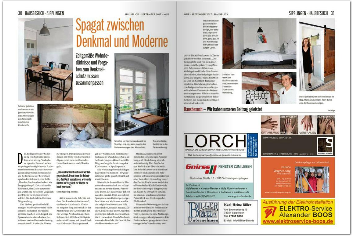 Ferienwohnungen Klosterhof1595 Sipplingen Bodensee