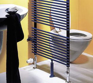 Modere Badheizkörper bieten individuelle Möglichkeiten zur Raumgestaltung.