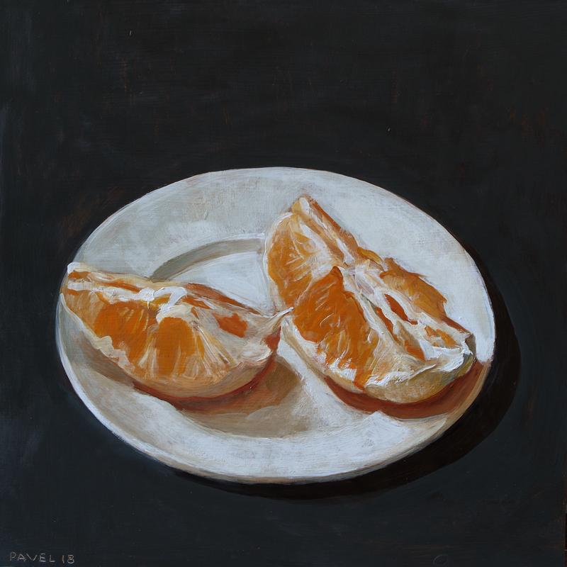 Pavel Feinstein: *N 2306*, 2018, Tempera/Hartfaser, 30 x 30 cm