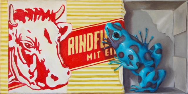 Heike Feddern: *Pfeilgift*, 2018, Öl/Leinwand, 40 x 80 cm