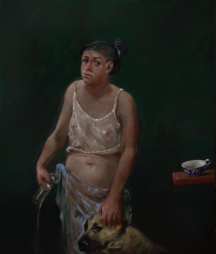 Pavel Feinstein: *N 2429*, 2019, Öl/Leinwand, 130 x 110 cm