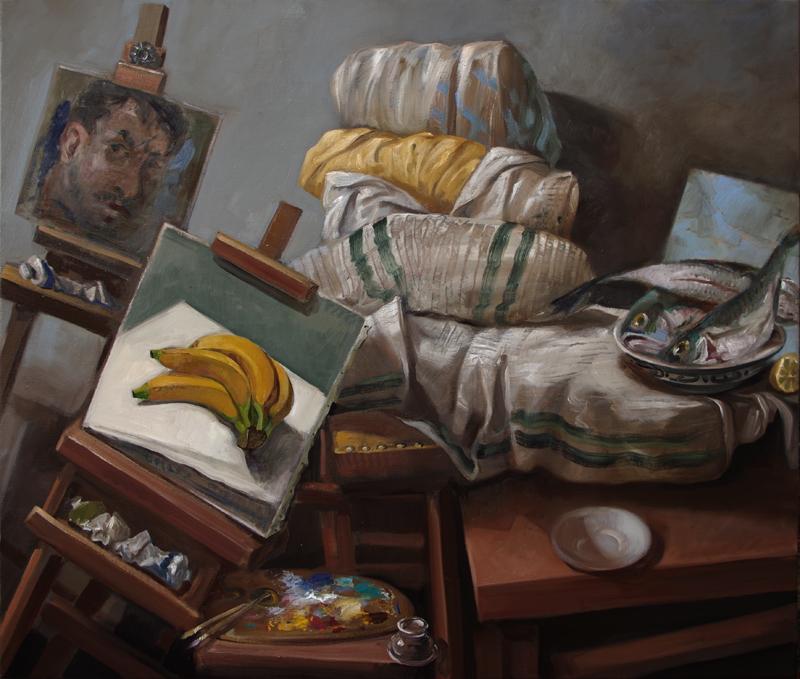 Pavel Feinstein: *N 2426*, 2019, Öl/Leinwand, 110 x 130 cm