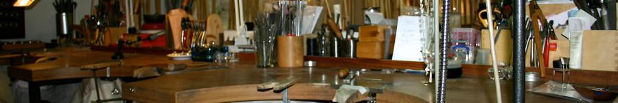 Unsere Goldschmiedewerkstatt, hier entstehen die Kollektionen, Trauringe, Verlobungsringe und Ihre individuellen Schmuckstücke