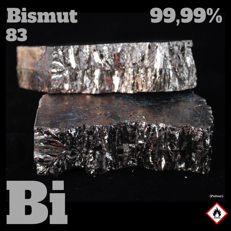 1 kg Bismut 4N; Barren  © Strategic Elements 2019