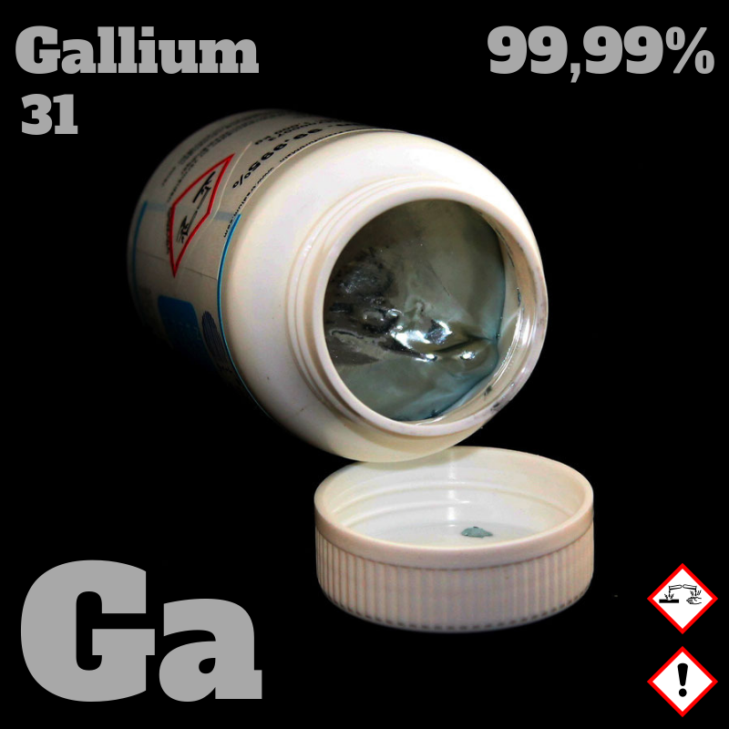 1 kg Gallium 4N   © Strategic Elements 2019