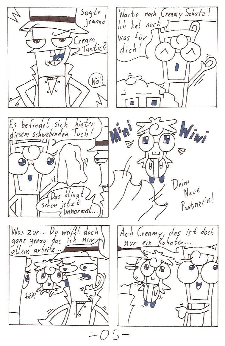 So einen ähnlichen Witz wie im ersten Bild hab ich in Comic Nr.1 eingebaut.