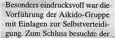 Siebzig- Jahr Feier der Sportunion Schärding, 70 Jahre Union, Aikido, Gabriel Richard Mayrhofer, CSI