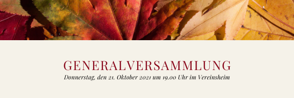 Generalversammlung Sportunion Schärding Donnerstag, den 21. Oktober 2021 um 19.00 Uhr im Vereinsheim