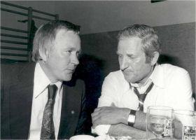 Obmann Franz Bruneder mit dem damaligen Landesobmann Lois Langthaler