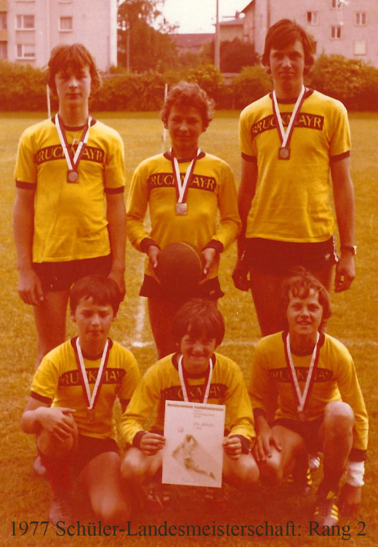 1977 Schüler-Landesmeisterschaft: Rang 2