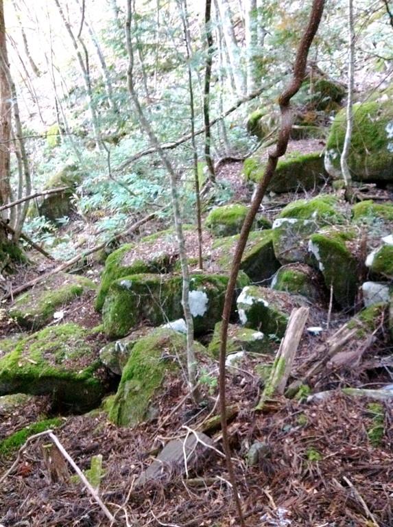 あちらこちらに巨石が切り出された跡が・・・ここから松倉城まで運んだ?