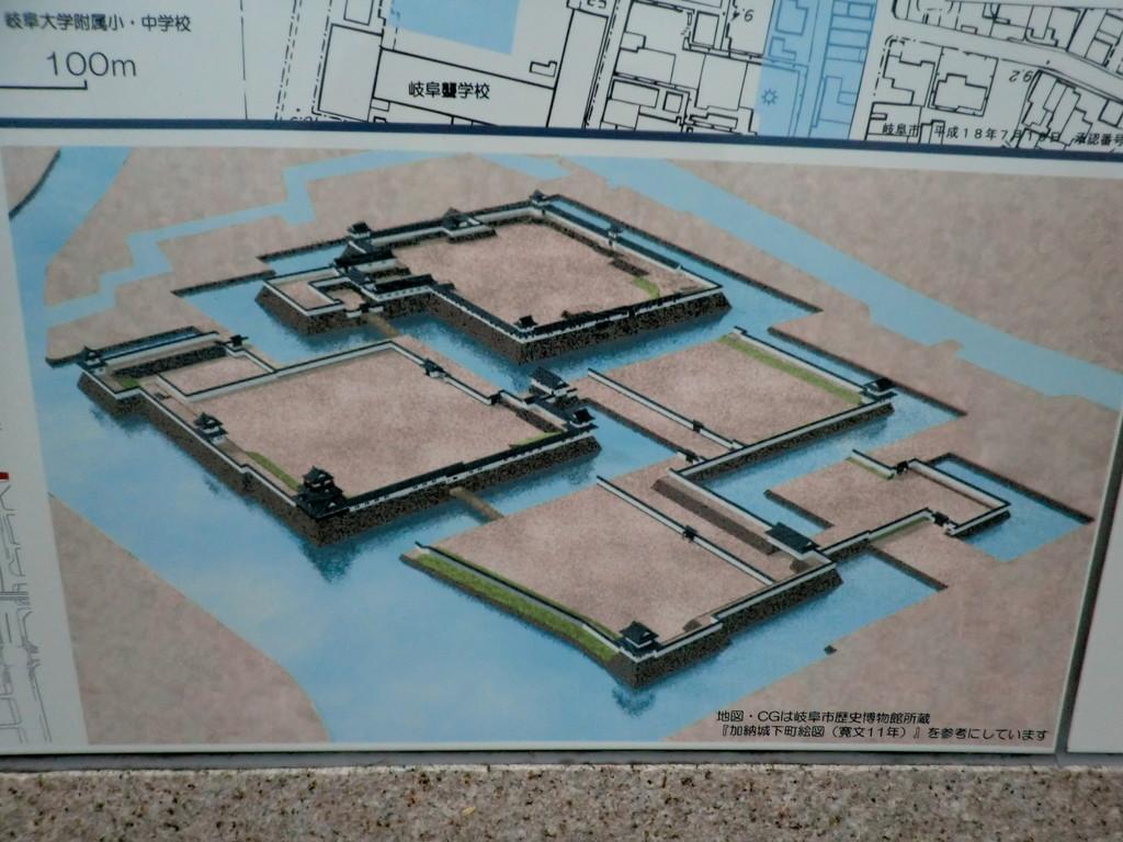 大阪に対する抑えに築城された加納城は完全な平城です