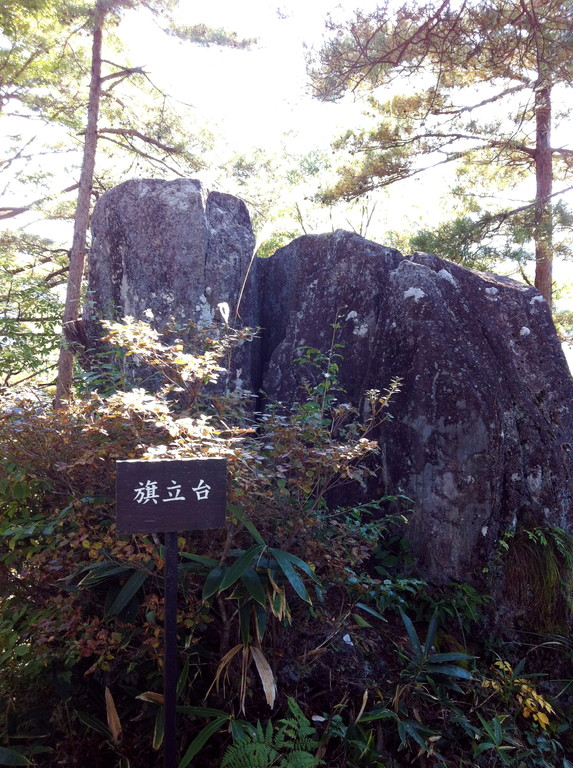 いつも思う謎の巨石は「旗立石」っていうんだけど本当だろうか?